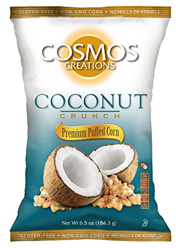 Cosmos Creations Coconut Crunch Premium Puffed Corn 6.5 oz bag, case of 10 by Cosmos Creations