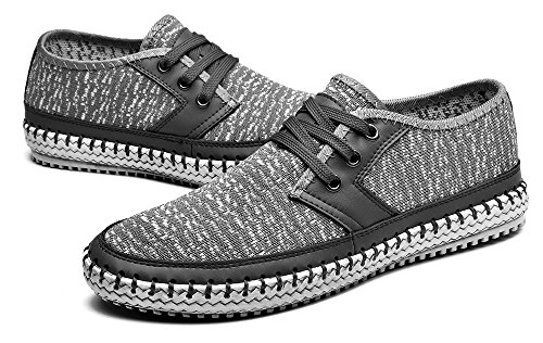 MOHEM Men's Poseidon Fashion Sneakers Casual Walking Shoes(3166-2Gray38)