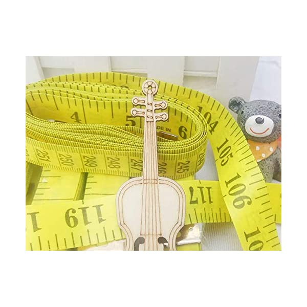 2Pcs 300cm 120″ Soft Yellow Plastic Flexible Dieting Ruler Tailor Sewing Cloth Measure Tape 51xciHKz9KL