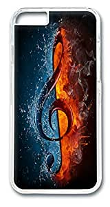 VUTTOO Treble Clef Polycarbonate Hard Case Cover for iphone 6 plus 5.5inch Transparent