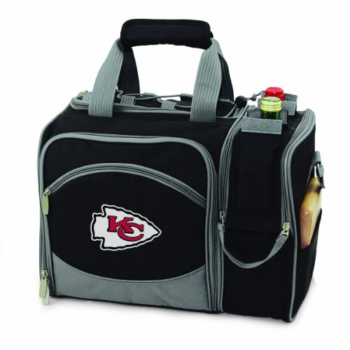 - NFL Kansas City Chiefs Malibu Insulated Shoulder Pack with Deluxe Picnic Service for Two