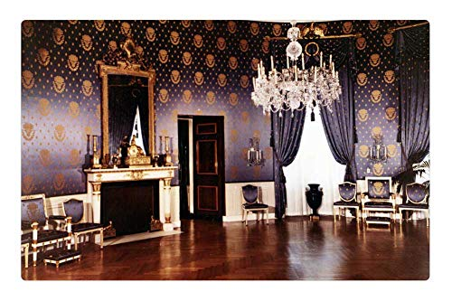 Rug 1952 (Indoor Floor Rug/Mat (23.6 x 15.7 Inch) - The White House 1952 Blue Room Washington Dc)
