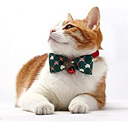 Besplore Pet Bow Tie,Detachable and Cute Bow Tie,Kitty Collars,Pet Neckties,Green