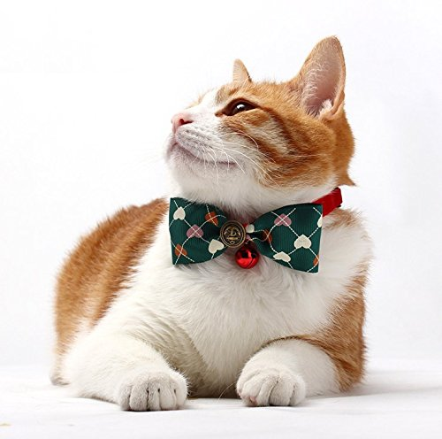 Besplore Pet Bow Tie,Detachable and Cute Bow Tie,Kitty Collars,Pet (No Thanks Vine Halloween)