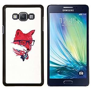 Jordan Colourful Shop - Red USA Hipster Fox For Samsung Galaxy A7 Personalizado negro cubierta de la caja de pl????stico