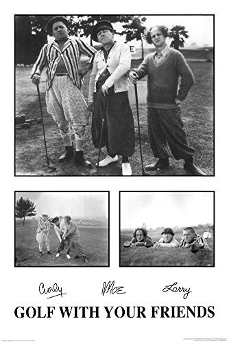 (24x36) Three Stooges Movie (Golf With Your Friends) Poster Print (Picture Golf Three Stooges)