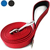 PetsLovers Durable Dog Lead - Padded Handle, Tough Nylon Webbing - 6 Feet Long, 1 Inch Wide
