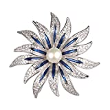 WenQian Jewelry Halloween Brooch,Christmas Brooch,AAAA 9mm More petal flowers Pearl Brooch