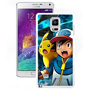 Luxury Pokemon Popular Cute and Funny Pikachu 21 White Samsung Galaxy Note 4 Screen Phone Case Graceful and Elegant Design