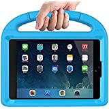 EVA Apple iPad 2/3/4 Kids Proof Case,Niveken Shockproof Protective Lightweight Handle Bumper Stand Cover with Screen Protector Blue