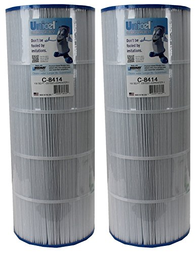 2) Unicel C-8414 Replacement Cartridge Filters 150 Sq Ft Waterway Clearwater II by Unicel