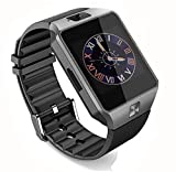 CNPGD [U.S. Office Extended Warranty] Smartwatch + Unlocked Watch Cell Phone All in 1 Bluetooth Watch for iPhone Android Samsung Galaxy Note,Nexus,htc,Sony Black