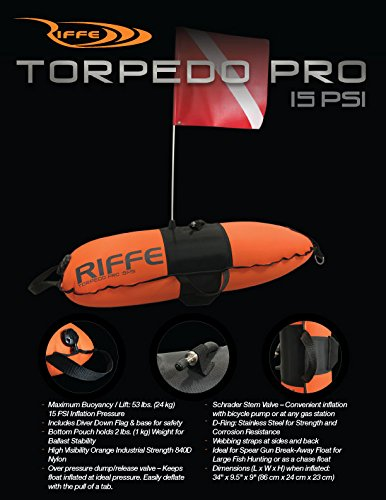 Riffe TORPEDO PRO Dive Float w/Flag ()