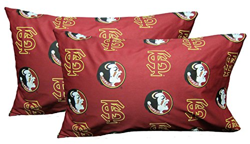 College Covers Florida State Seminoles Pillowcase Pair - Solid (Includes 2 Standard Pillowcases) ()