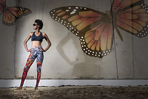 Courage my love Womens Courageous Freedom Butterfly Hot Yoga Legskin Tights from New Zealand. Quick dry and Breathable. 4-6 US by Courage my love (Image #5)
