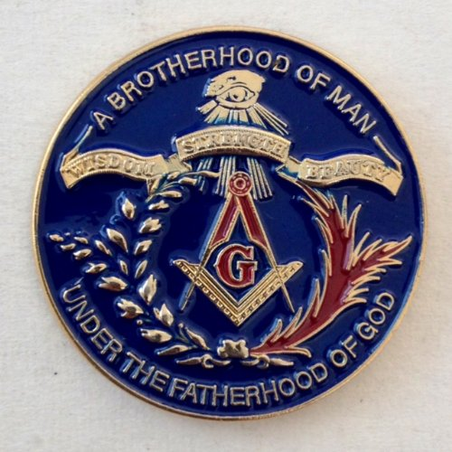 "1"" Masonic Lapel Pin(WSB)"