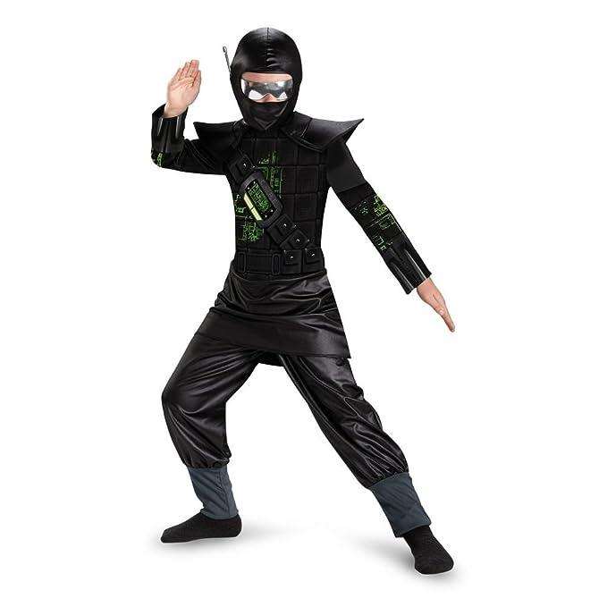 Amazon.com: Core Black Ninja Kids Costume - Large: Clothing