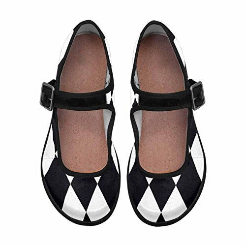 5 InterestPrint Jane Flats Mary Shoes Walking Casual Comfort Multi Womens PBqPwHz