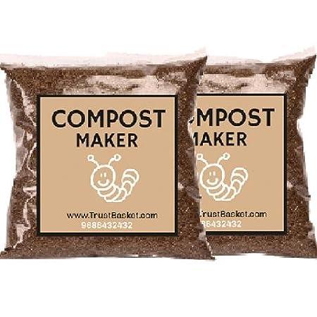 Trust Basket Bokashi Compost Maker Powder (500 g, Brown, Pack of 2)
