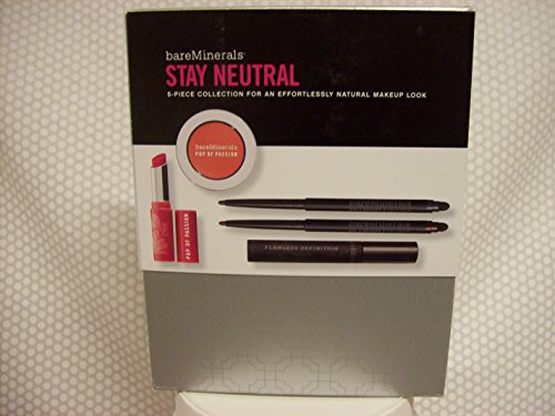 bareMinerals Stay Neutral - 5 Piece Set For a Natural Look W Pop of Passion