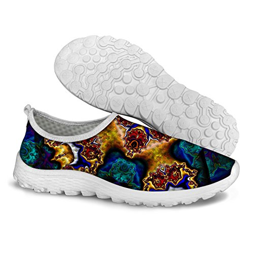 U 2 Stylish Running Blue Shoes Pattern Floral Mesh Women's Comfortable DESIGNS FOR Walking Casual 6wFFq