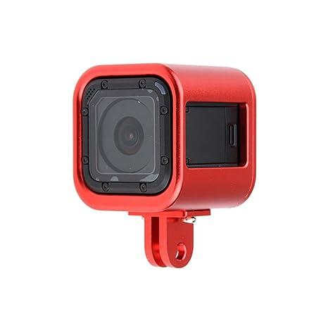 Deylaying Rojo CNC Aluminio Protector Cáscara Marco Alojamiento Caso Cubrir por GoPro Hero 5/4 Session Cámara