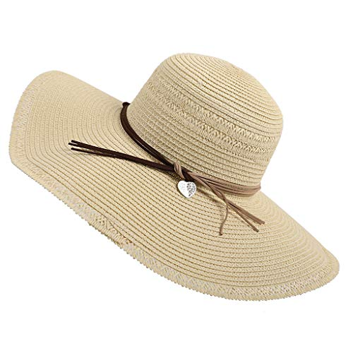 UOKNICE Big Discount Beach Sun Straw HatSummer Beachwear Foldable Ladies Straw UV UPF50 Hat