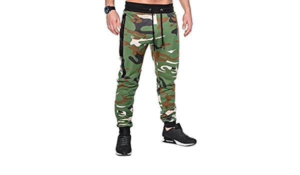BetterStylz SlvrCatBZ Hombre Camoflage Pantalones Track Pant ...