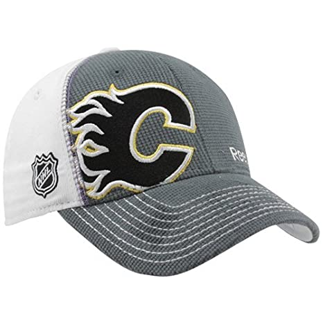 promo code ada33 4fba6 Image Unavailable. Image not available for. Color  Calgary Flames Hockey  Fights Cancer Flex Reebok hat ...