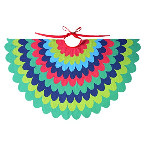 STARKMA Bird Fairy Peacock Wings Costume for Kids (B) Green ()