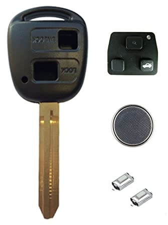 Toyota Diy Repair Kit Replacement 2 Button Remote Car Amazon Co