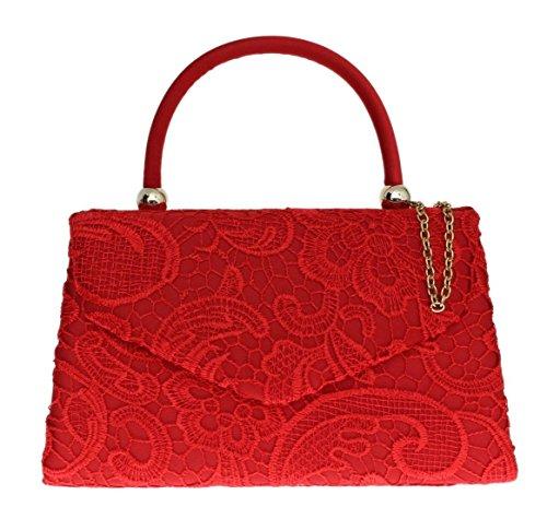 Satin Evening Party Womens Elegant Wedding Wedding Fashion Bag Top Red Womens Ladies Out Vintage Handbag Craze Clutch Designer Bag Handle Handbag Clutch London Lace Going EvxqBw4n0O