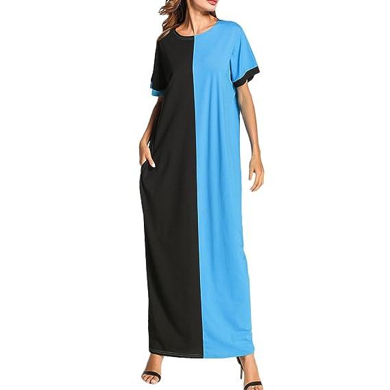 Maxi Longue Fit Dames Zhhlinyuan Slim Poches Robes Mode Tunique LSzjMUpqVG