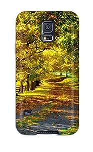 Superface SPHqN4934iVMLR Case Cover Skin For Galaxy S5 (autumn Season)