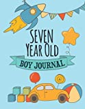 Seven Year Old Boy Journal: Blank and Wide Ruled Journal for Boys; 7 Year Old Birthday Boy Gift