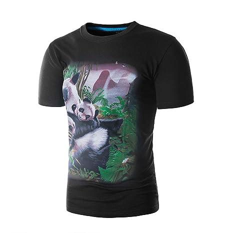 YKARITIANNA - Camiseta de manga corta para hombre, diseño de panda ...
