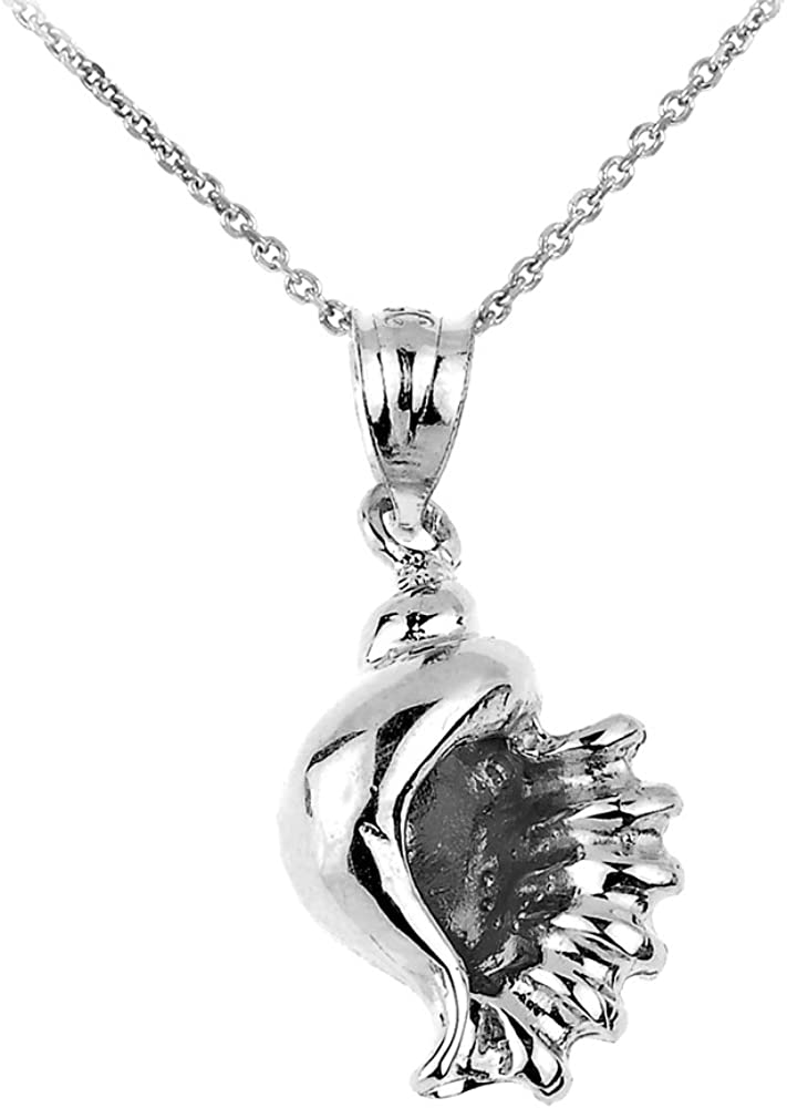 Sterling Silver Seashell Charm Pendant