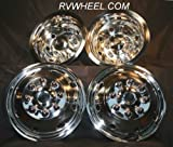 Ford E 350/450 16'' Hubcaps Snap on Stainless Steel 8 Lug 8 Hole Free Shipping Wheel Simulators