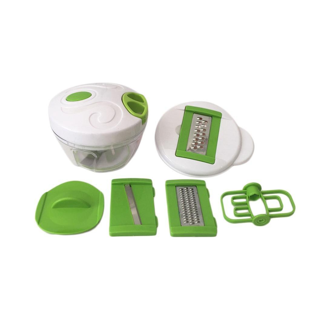 Tpingfe Multi-function Salad Crusher Food Processor Manual Meat Machine Crusher Chopper (White)