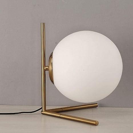 Lámpara De Mesa De Bola De Cristal Moderna Lámpara De Mesa De ...