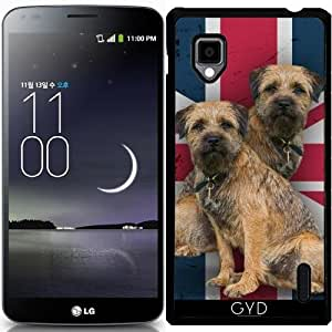 Funda para LG Optimus G (E975) - Border Terrier En Union Jack by Tanya