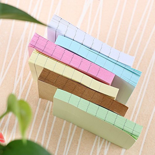 Office Stationery Sticky Notes Square Soild Color Memo Pad 80 Pages Sticker Bookmark Point