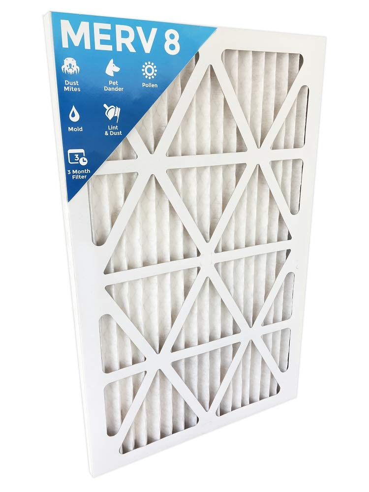 12x20x1 Merv 8 Pleated AC Furnace Air Filters. 4 Pack