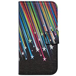 Bfun packing Shooting Stars Card Slot Walllet Leather Cover Case for Motorola Moto G
