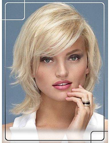 Pelucas de la manera conveniente y cómodo atractivos peludos pelo de 1 pulgada superiores naturales monofilamento