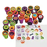 Plastic Halloween Stampers - 50 pc