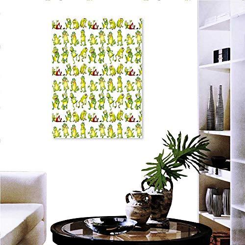 Stevenhome Pegatinas de Pared de ladrillo para guardería, diseño de Elefantes en Combinaciones de Animales Divertidos y...