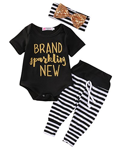 f0066a7e4 Newborn Baby Girl Boy Clothes Outfit Arrow Romper+ Striped Pants+ Hat 3pcs  Set (0-3months, Black) - Buy Online in Oman. | Apparel Products in Oman -  See ...
