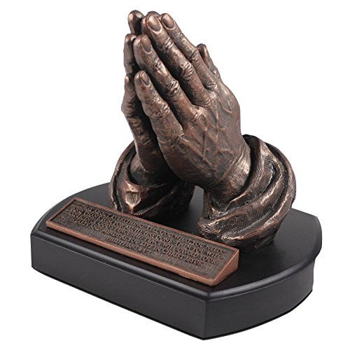 Lighthouse Christian Products Moments of Faith Praying Hands Sculpture, 5 1/2