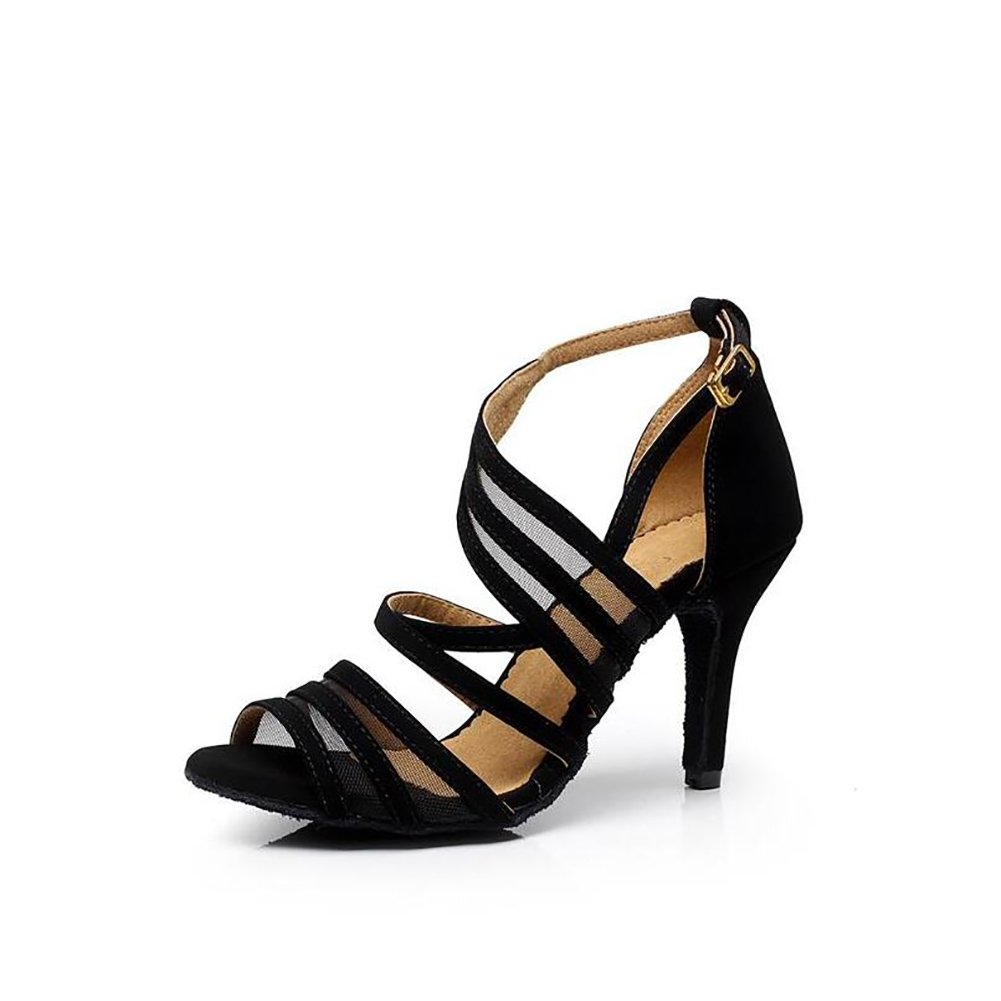 XUEXUE Womens Latin Shoes//Dance Sneakers Lace Sandal Indoor//Professional//Beginner Buckle Stiletto Heel Dance Shoes Party /& Evening Color : B, Size : 38